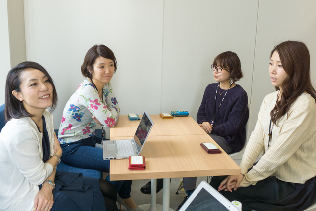 左から、尾崎さん、池田さん、栗原さん、藤沼さん