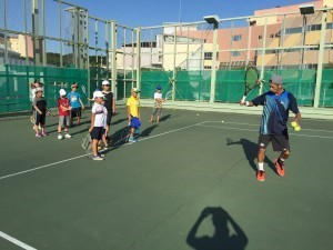 長男のテニス