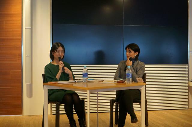 (左)浜屋 祐子さん、(右)中野 円佳さん
